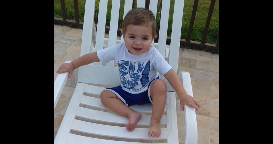 A mãe Pamela enviou foto do filho Heitor