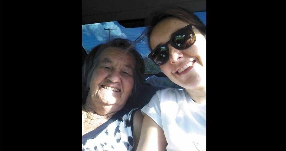 Elaine Farias com sua vovó amada Nilda Farias, de Mato Grosso do Sul (MS)