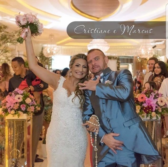 Cristiane de Paula Mendes e Marcus Vinicius Gruszkowski Silva, casaram-se no dia 08 de outubro de 2017, no Rio de Janeiro (RJ)
