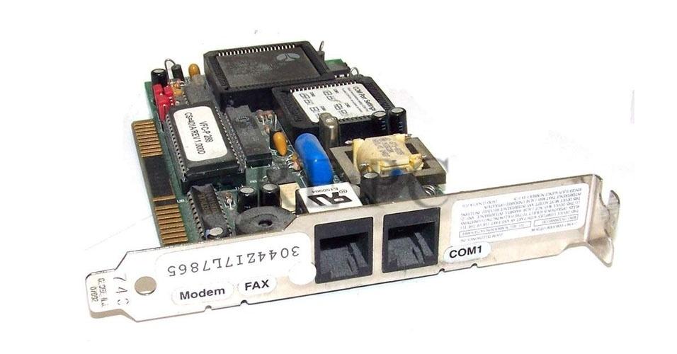 15. E nos princípios da internet, não podia faltar uma placa fax-modem de 14.4 Kbps