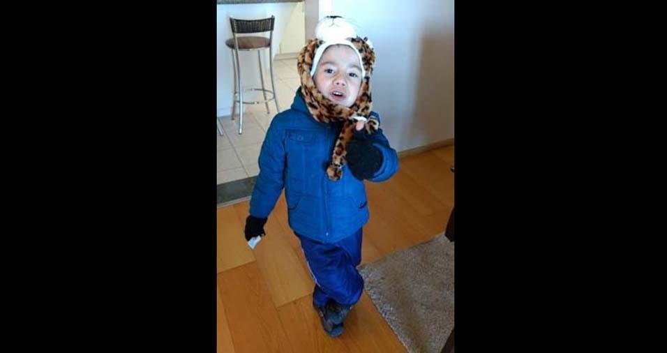 Cleide e Bruno enviaram a foto do Arthur, de quatro anos