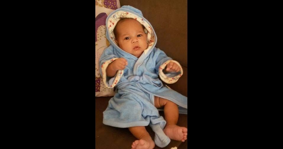 Edmar e Marilia, de Ribeirão Preto (SP), enviaram foto do filho Guilherme, de três meses