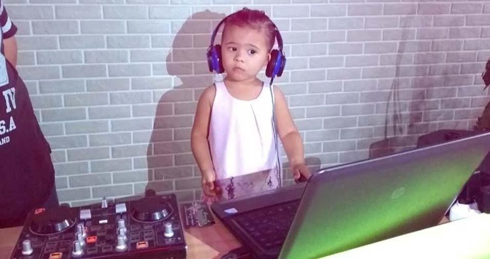 Júlio César, de São Vicente (SP), enviou foto da filha Rafaela, de dois anos