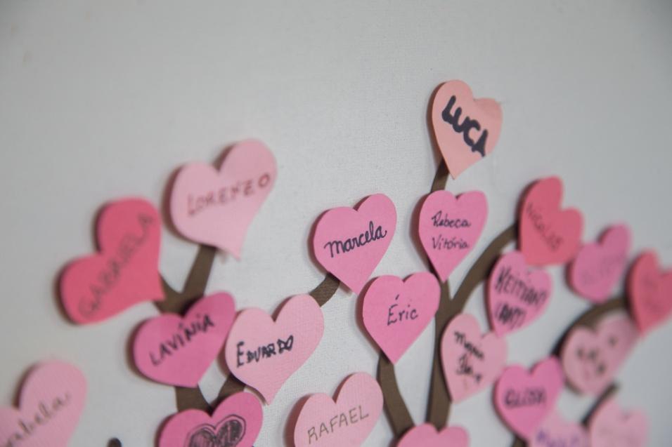 Grupo Sobre Viver. Os nomes das crianças que morreram ficam eternizados na árvore do Grupo SobreViver