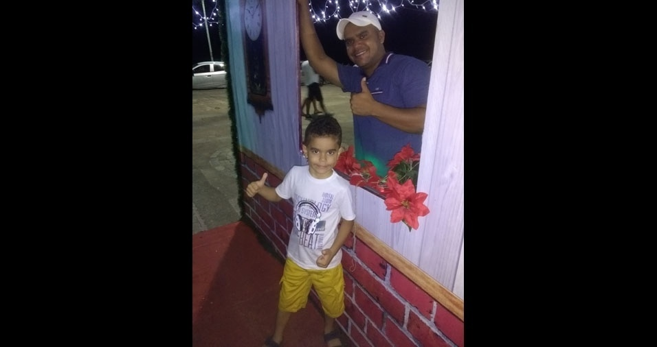 Gledson Sena Souza, de Porto Seguro (BA), enviou foto do filho Gustavo