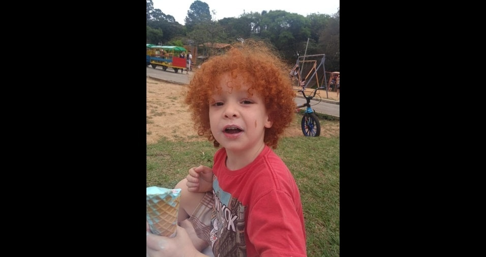 Miguel Henrique, cinco anos, é o filho da Edna Regina da Silva, de São Paulo (SP)