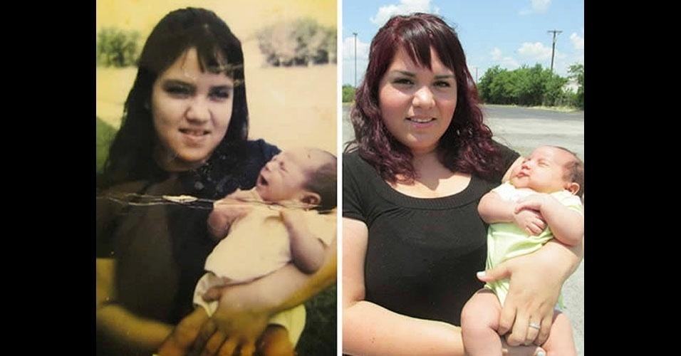 24. A bebê da esquerda é a mãe da direita