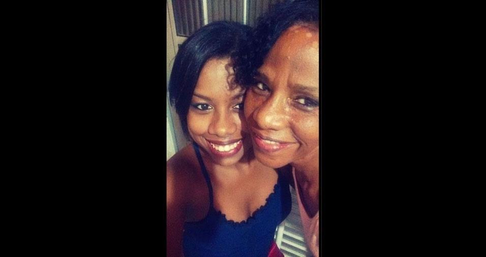 Juliana Barbosa com a mamãe Maria de Fátima, de Paraíba do Sul (RS)