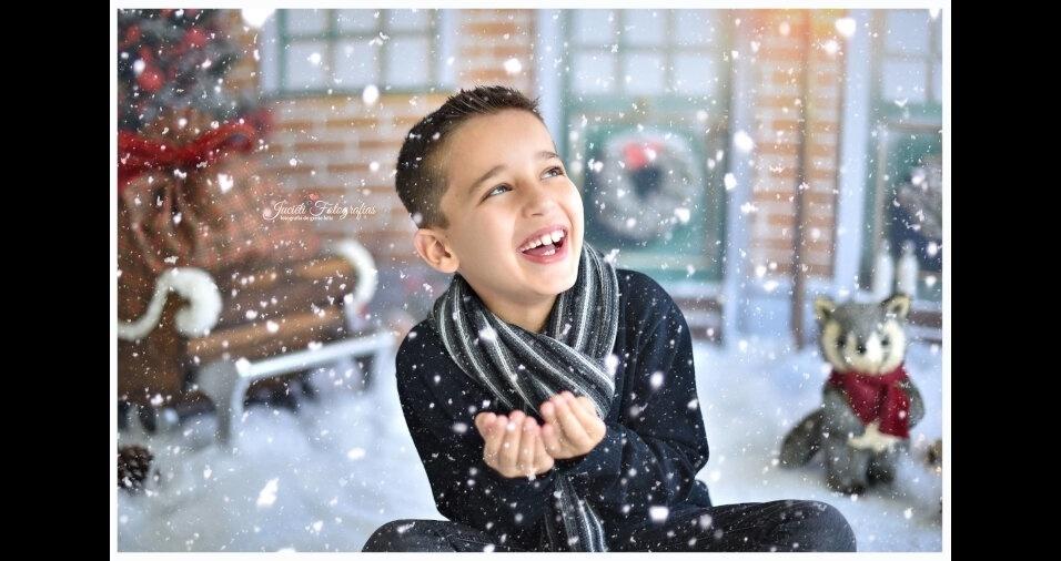 Murilo, de seis anos, está participando do Natal do BOL com foto enviada pela mamãe, Ana Paula Fauth, de Coxilha (RS)