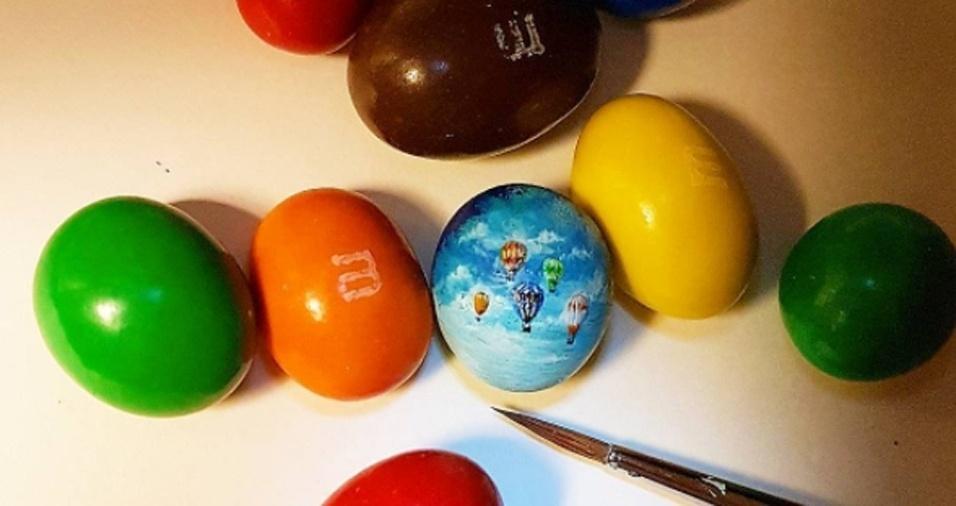 17. Aparentemente, o artista turco tem uma queda por pedaços de chocolate