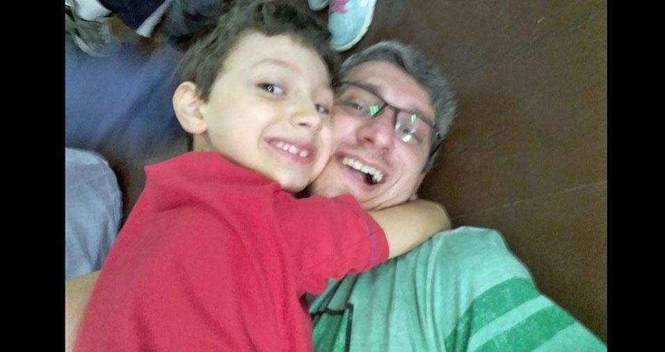 Papai Ricardo e seu filho Eduardo, de Santos (SP)