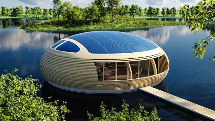 4.set.2017 - De acordo com o arquiteto Giancarlo Zema, a casa flutuante possui 100 metros quadrados, o que daria para abrigar uma família de quatro pessoas