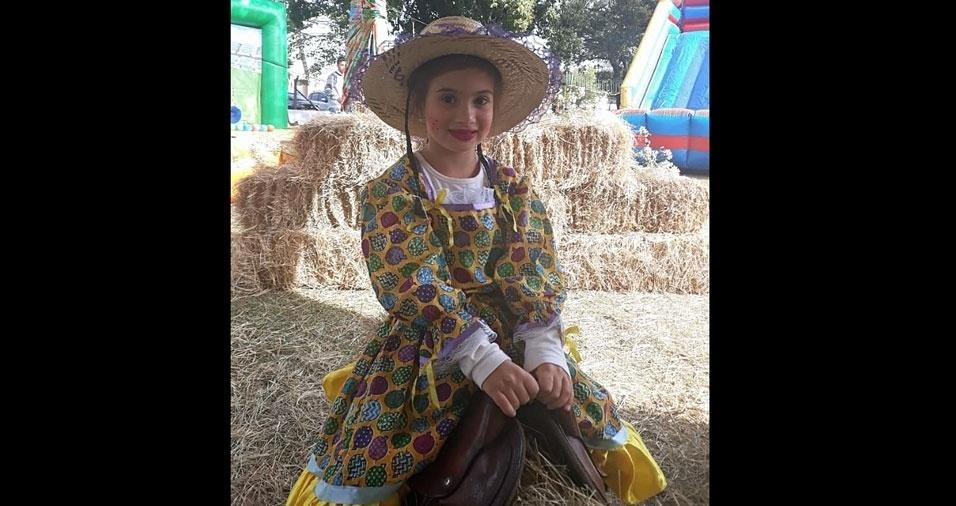 """Anderson Henrique Escarpim, de Sorocaba (SP), enviou foto da filha Sophie Escarpim, seis anos: """"Acompanho vocês desde os meus 20 anos. Grande abraço."""""""