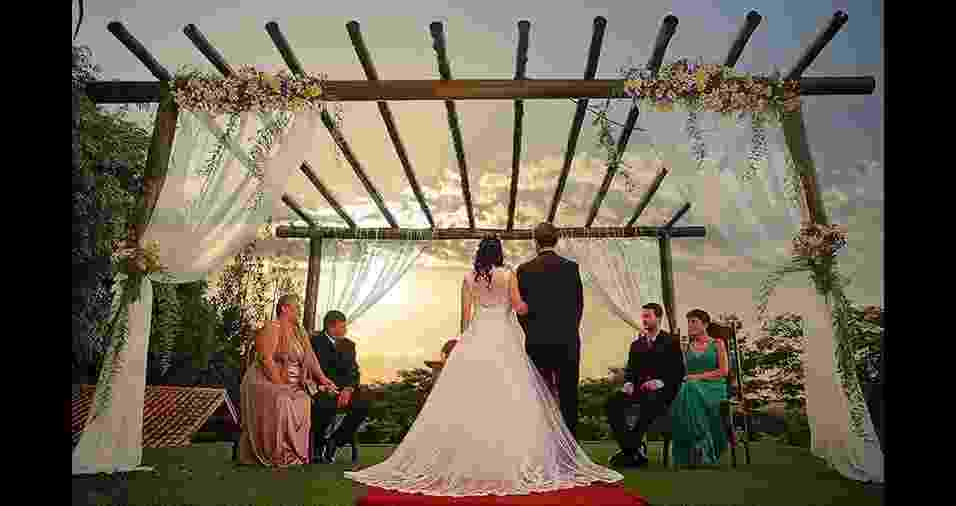 Marcela Martins e Gabriel Flynn casaram-se em 9 de maio de 2015, em Bragança Paulista (SP) - Arquivo pessoal