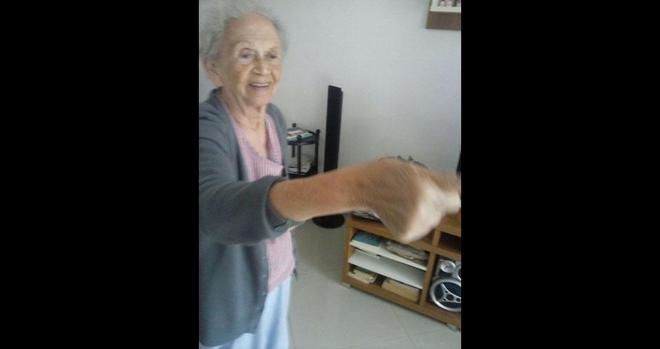 Eunivaldo aproveita a oportunidade para mandar um abraço para a mãe, dona Eunice da Silva Soares