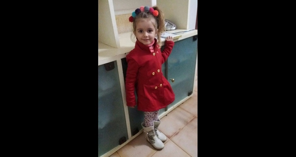 Luanda enviou foto da Olivia de quatro anos, de Lagoa Santa (MG)