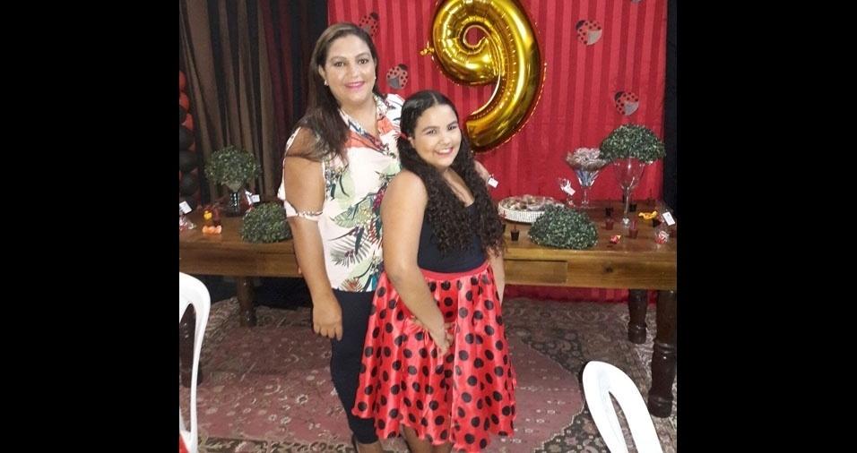 Fabiana Silva com a filha Brenda, de Feira de Santana (BA)