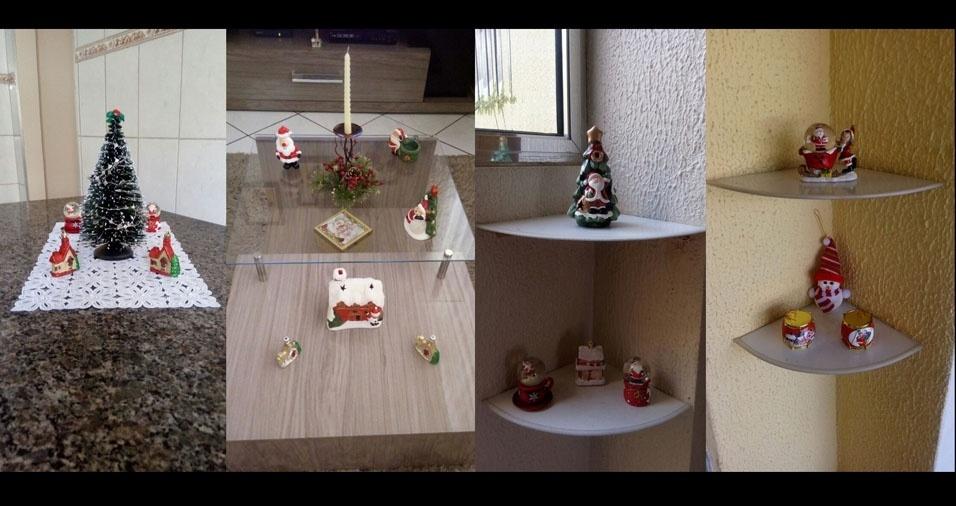 Silvana Barreto de Oliveira Navarro, de  Guarulhos (SP), mostra a decoração de Natal de sua casa