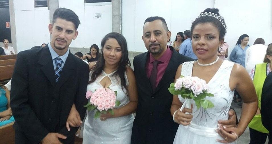 """Debora Queiroz e Alan Damião junto com Arine Domingues e Luilson Mendonça, se casaram no dia 28 de Outubro 2017 na Igreja Santa Terezinha em São Paulo (SP): """"Somos muito felizes!"""""""