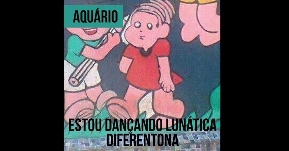 16.fev.2017 - A Mônica deformada de Aquário