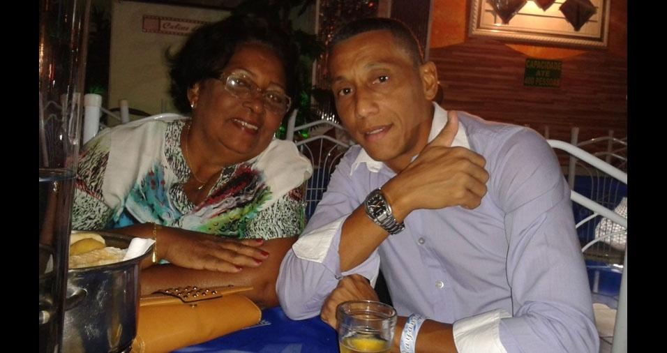 Sidiclei com a mamãe Vera Lúcia, de Rio de Janeiro (RJ)