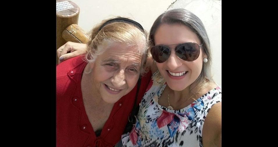 Iris Jorge, 91 anos, é a mãe da Mara, de Santa Catarina