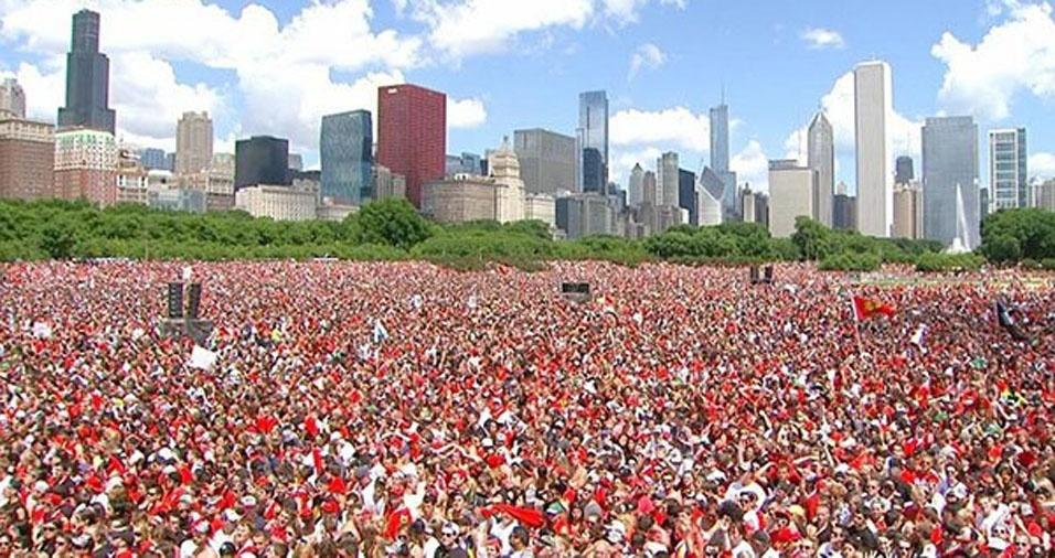 12. Desfile do campeonato do Chicago Blackhawks