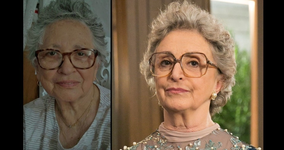 """Maria Lopes Pereira, de São Paulo (SP), se acha parecida com a atriz Ana Lúcia Torres, a Adinéia de """"O Outro Lado do Paraíso"""""""