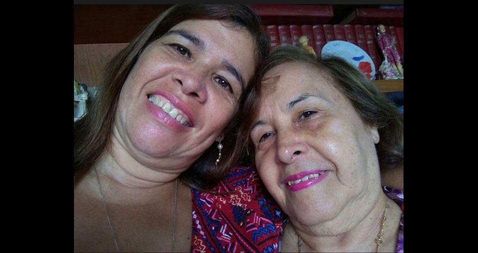 """Josana Aguiar Figueiredo homenageia a mãe, Joana D'arc Batista de Aguiar Figueiredo, dizendo: """"a pessoa mais importante da minha vida"""""""