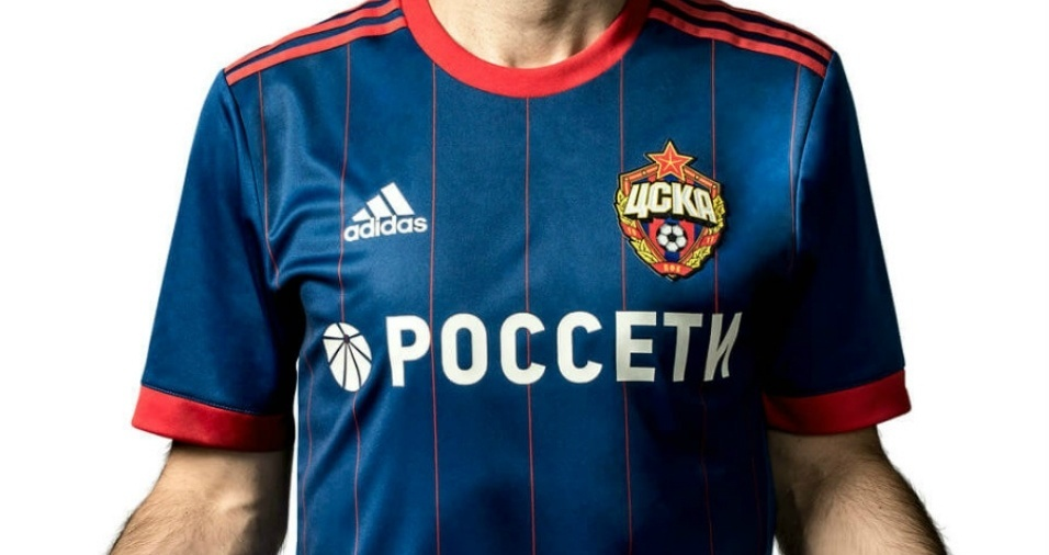 18. CSKA - Os russos optaram por um bonito tom azul predominante e listras vermelhas