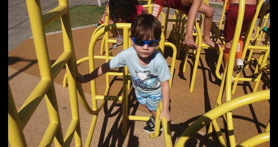 Renato, de Volta Redonda (RJ), enviou foto do filho Cauã, de três anos