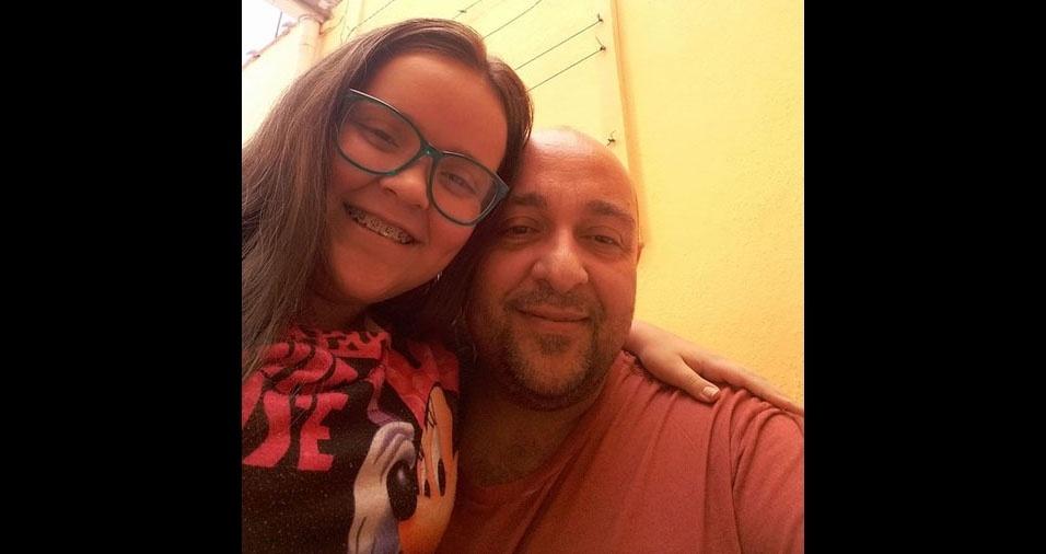 Amanda e o papai Alexandre, de Poá (SP)