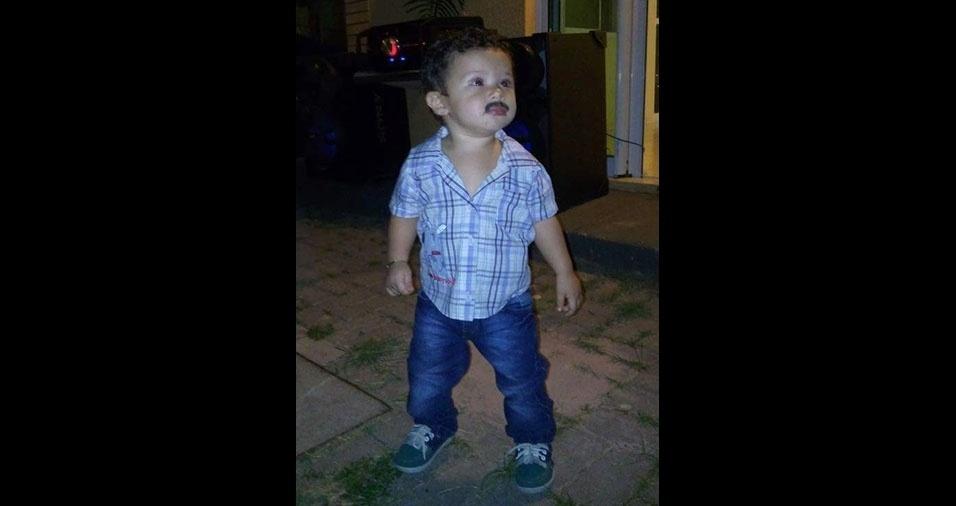 """Ângela Araújo, de Fortaleza (CE), mandou foto do filho Leonardo de Medeiros, dois anos: """"O caipirinha mais lindo da Dinda"""""""