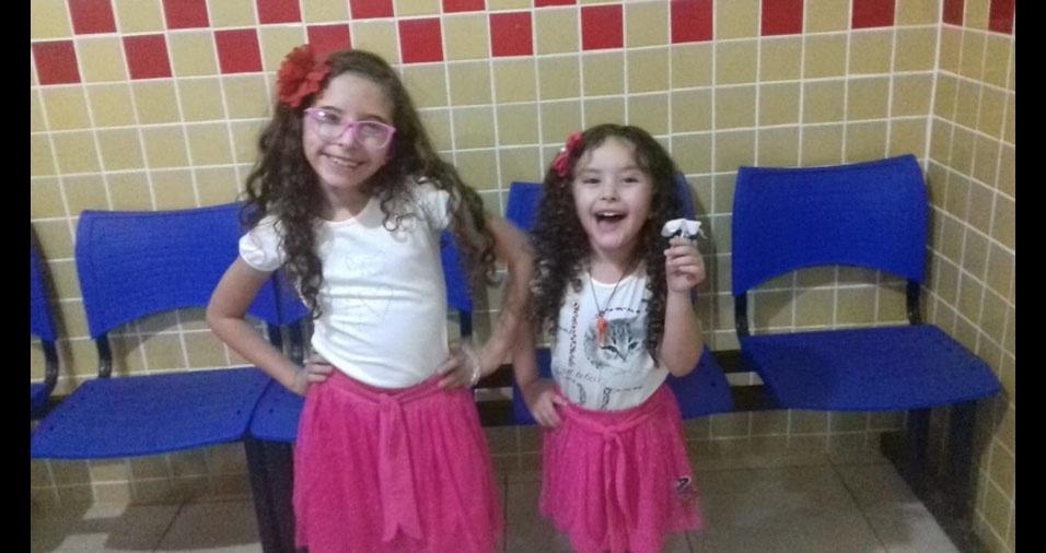 Ângela, quatro anos, e Angélica, oito anos, são as filhas da Cícera de Oliveira Lobo, de Crato (CE)
