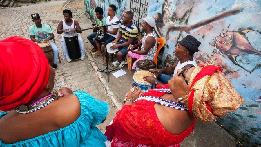 Samba Chula de São Braz, roda em quilombo no município de Santo Amaro da Purificação (BA) - Dario Guimarães Neto/BOL