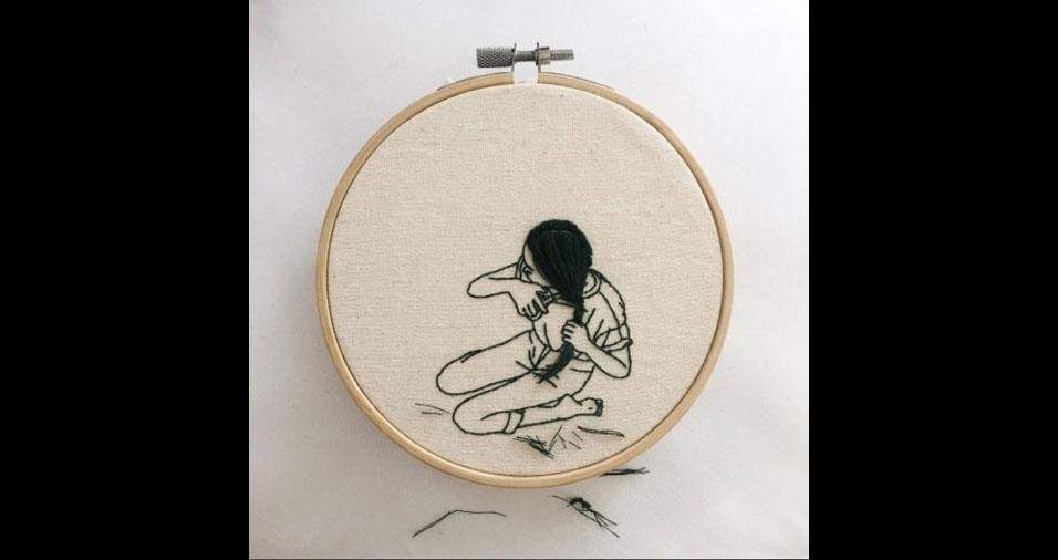 19. Trabalho em bordado da artista Sheena Liam