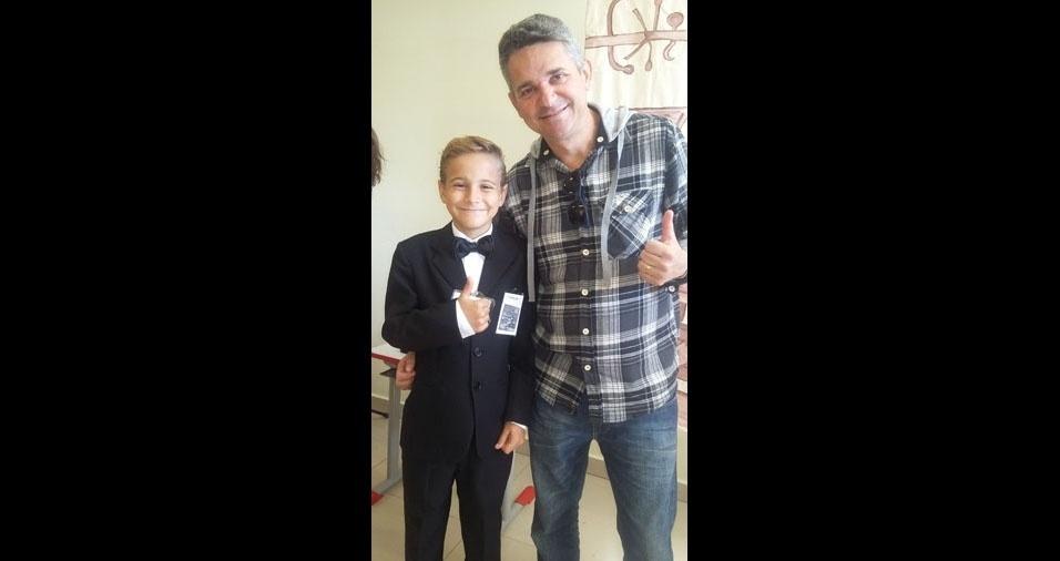 Renan com o pai Luiz Alexandre
