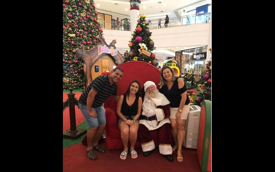 Odorico Martins, São Vicente (SP),  compartilha foto especial com o Papai Noel