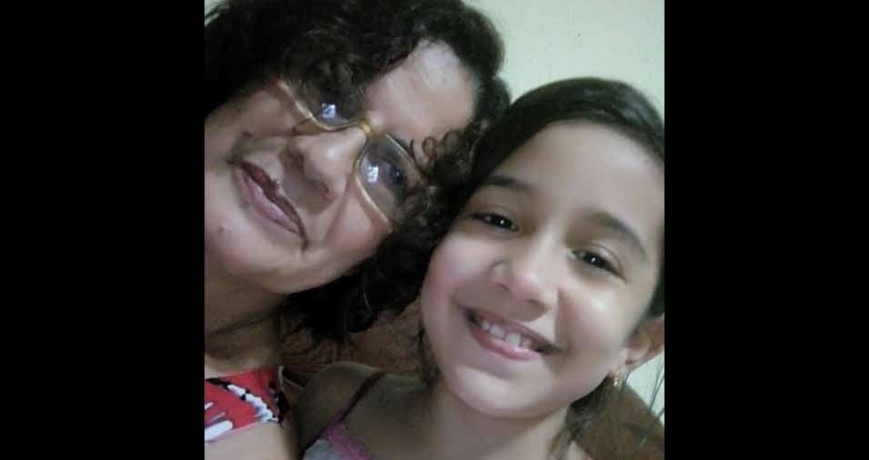 Vovó Socorro Leal com a neta Ana Clara, de Ananindeua (PA)