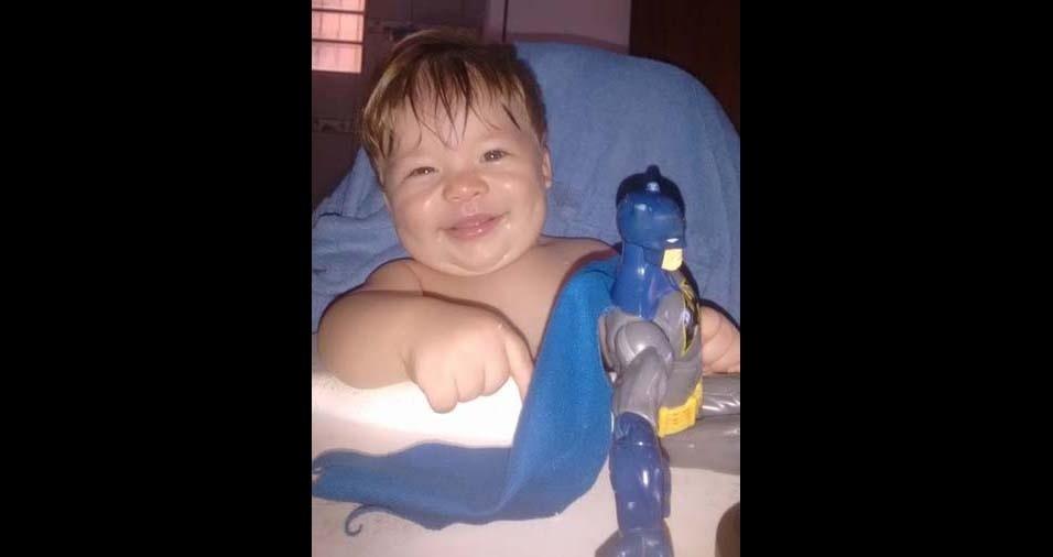 Elaine, de Belém (PA), enviou foto do filho Samuel Botelho, oito meses