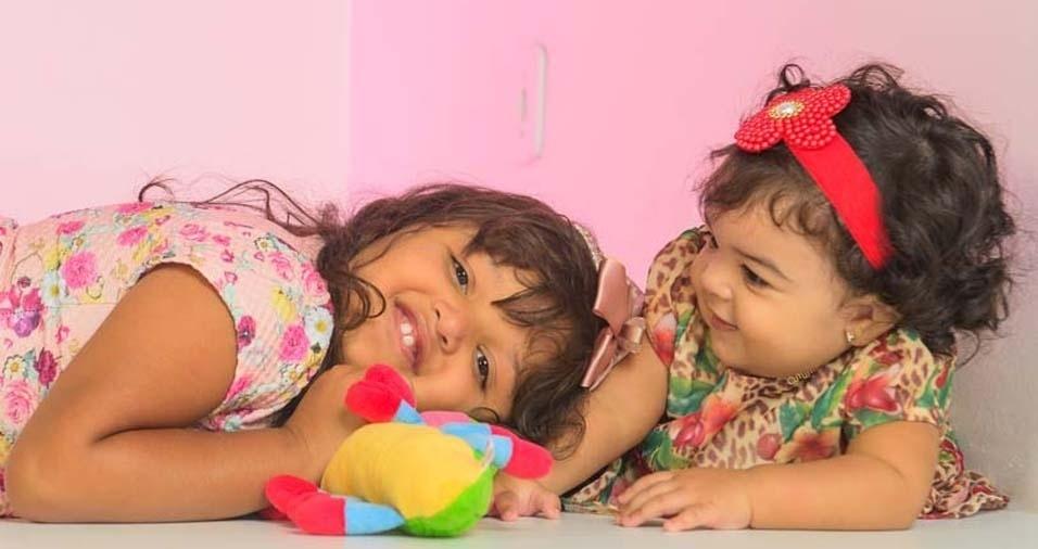Emerson, de Maceió (AL), enviou foto das filhas Ellen Vitória e Sofia Beatriz