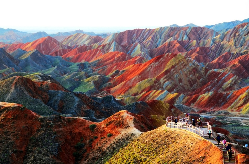 Parque Geológico Zhangye Danxia, na província de Gansu, na China