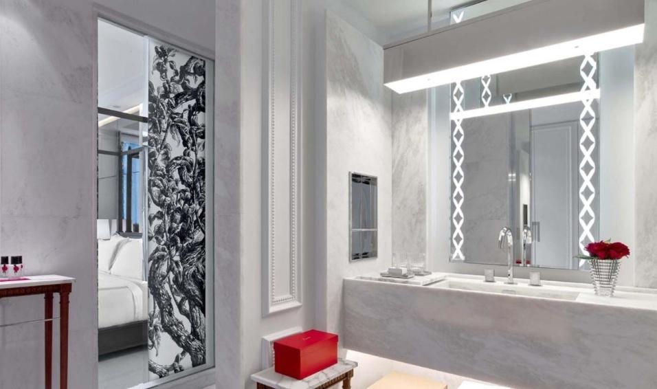 19.mai.2017 - O banheiro do hotel 5 estrelas, onde o empresário Joesley Batista está hospedado em NY