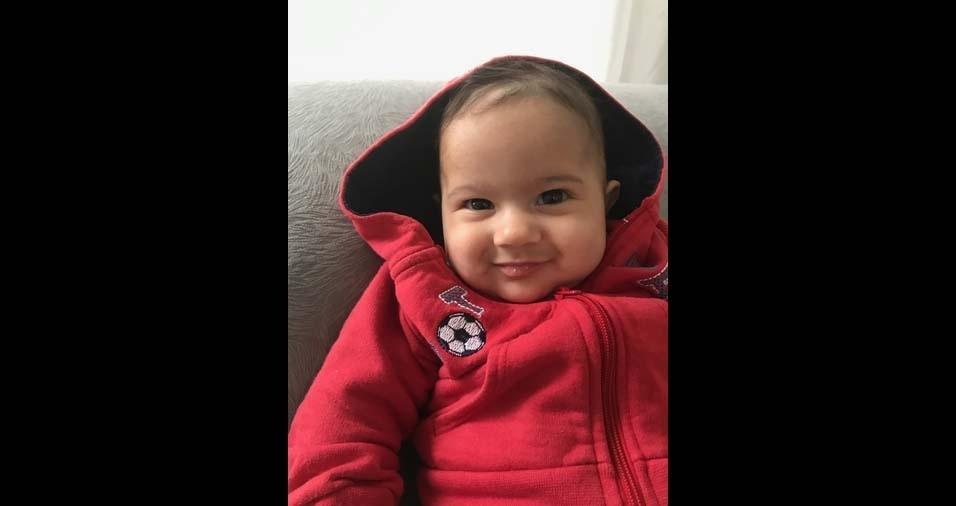 Jaqueline, de Jundiaí (SP), enviou foto do filho Heitor, de quatro meses