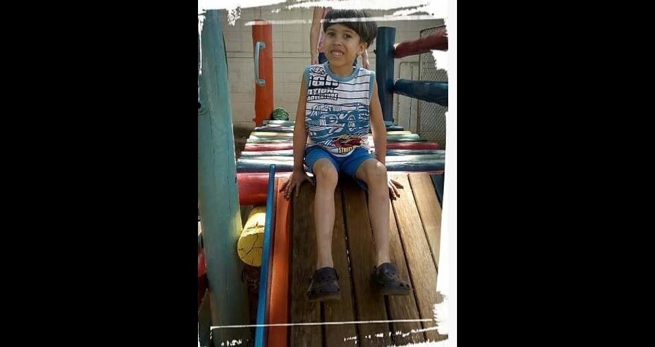 Alexandra, de São Paulo (SP), enviou foto do filho Fernando, de cinco anos