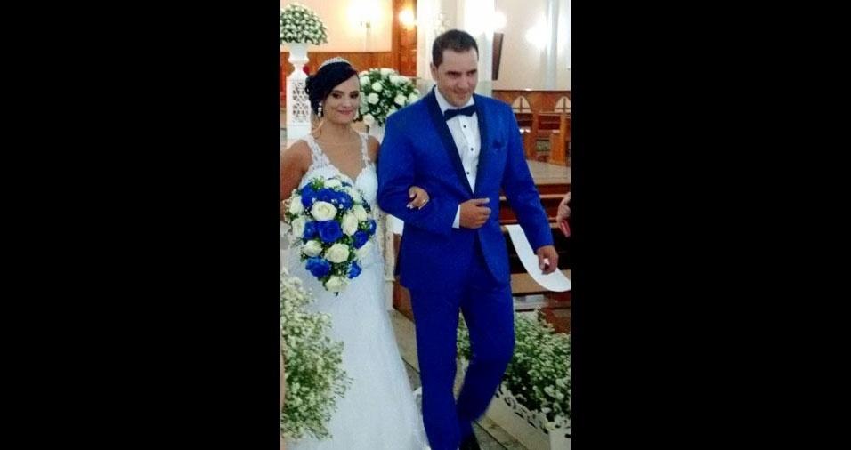 Graziele Bernardo e Ricardo Luiz casaram-se no dia 22 de abril de 2017, em São José do Rio Pardo (SP)