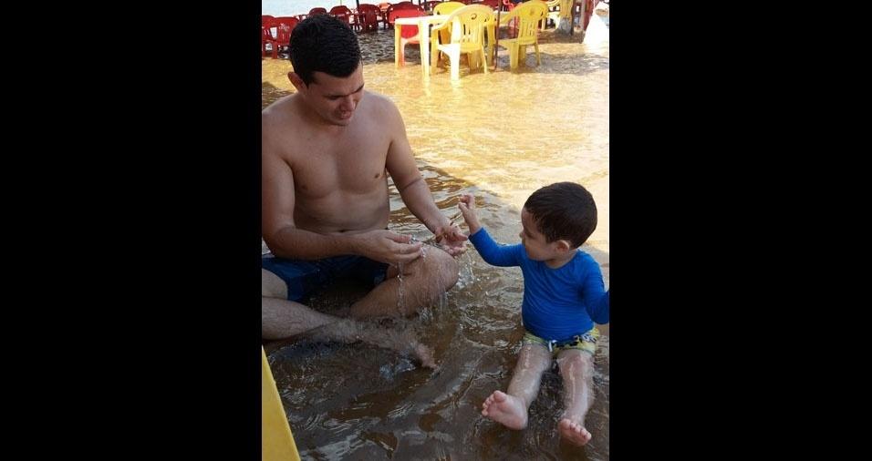Bruno  Miranda com o filho Guilherme Felipe