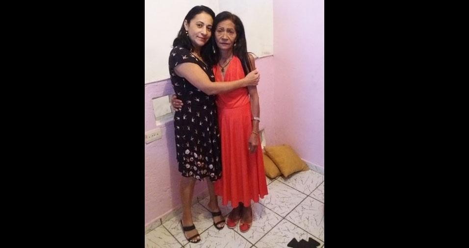 A mamãe Aninha com a filha Zizi, de Mauá (SP)