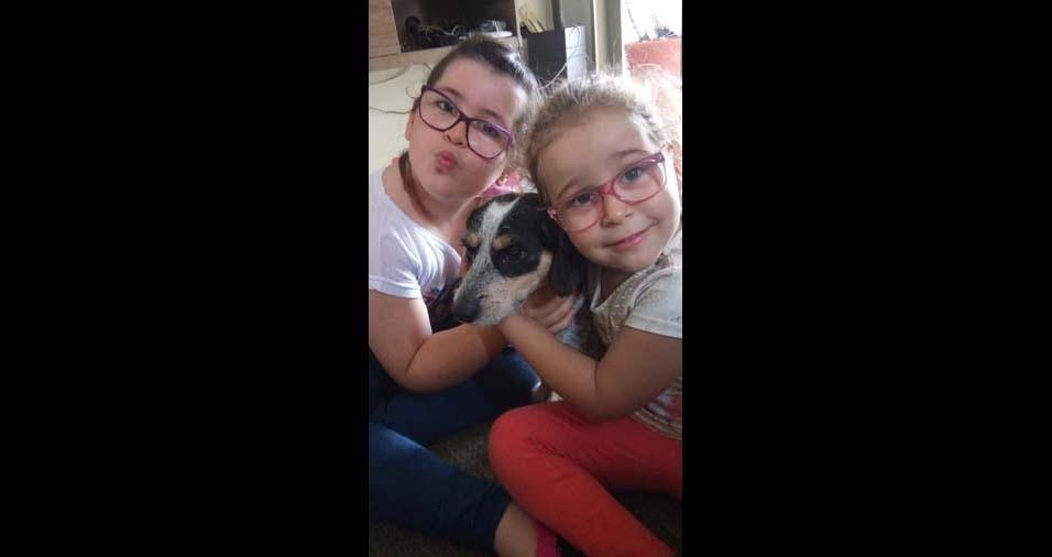 Maria Clara, quatro anos, e Caroline, de oito anos, são filhas de Camila e Clayton, de Itapui (SP)