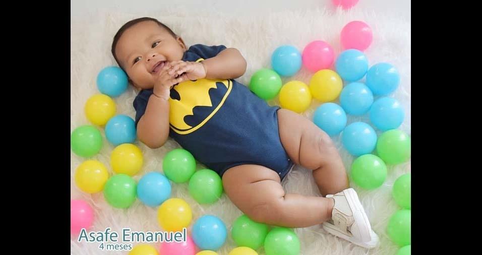 José e Karine, de Caraúbas (RN), enviaram foto do filho Asafa Emanuel